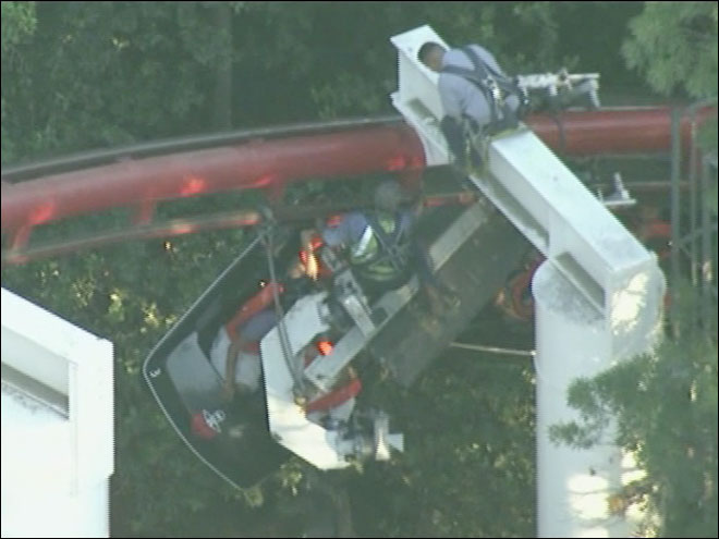 Six Flags roller coaster rescue