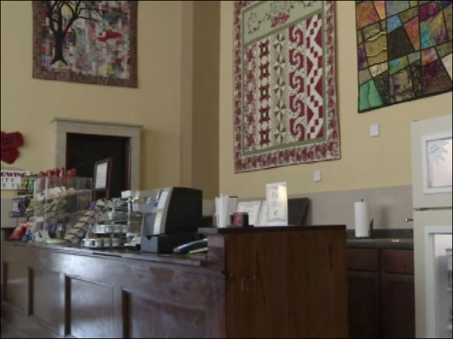Unique coffee shop with no employees