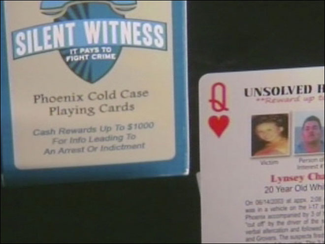 Detectives hope playing cards help solve cold cases