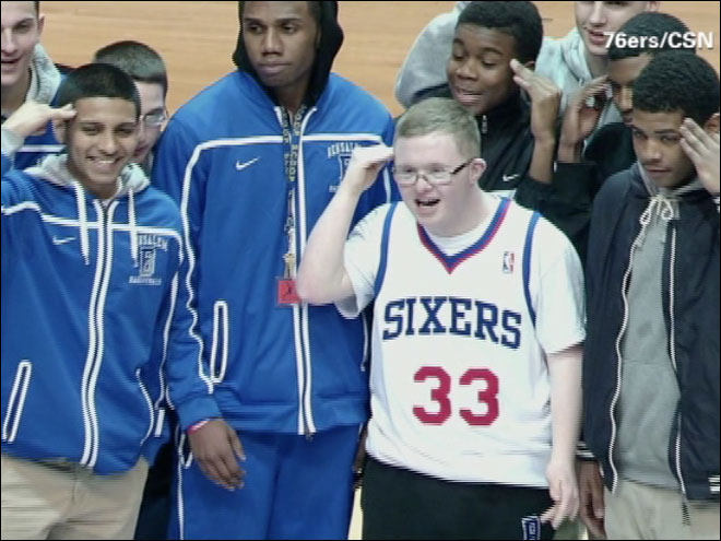 76ers sign Down Syndrome teen to 2-day contract
