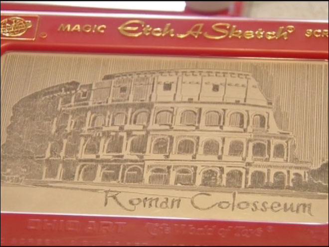 Etch-a-Sketch works of art