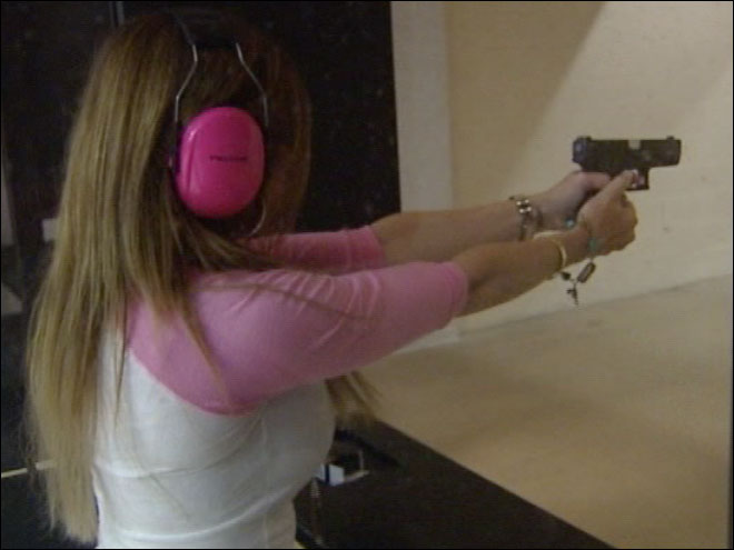 "Woman sells ""girly"" gun accessories"