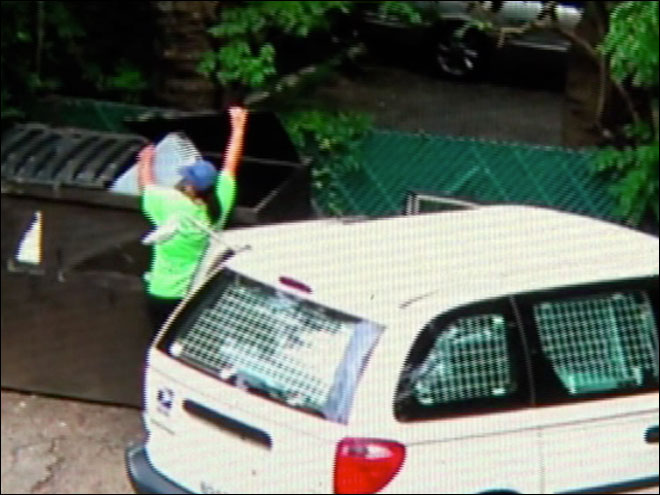 Mail carrier dumps mail in dumpster?