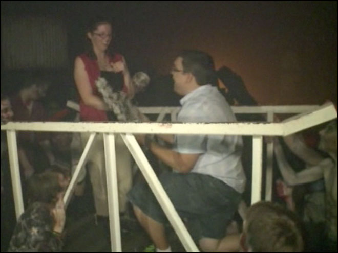 Man proposes at haunted house