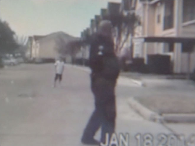 Dashcam of officer playing catch with boy goes viral