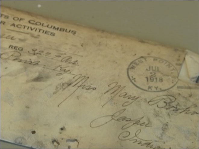 Love letters from World War I found in home