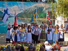 Teen Folk Dancers at the Scandi Festival