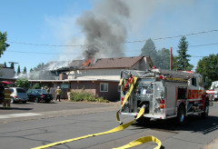 Apartment Fire in Corvallis