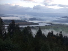 Morning fog/clouds in Coos Bay