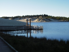 Cleawox Lake fishing dock