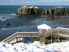 Beautiful Bandon by the Sea with snow