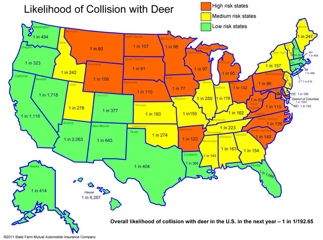 Study: Oregon drivers have 1 in 323 chance of hitting a deer