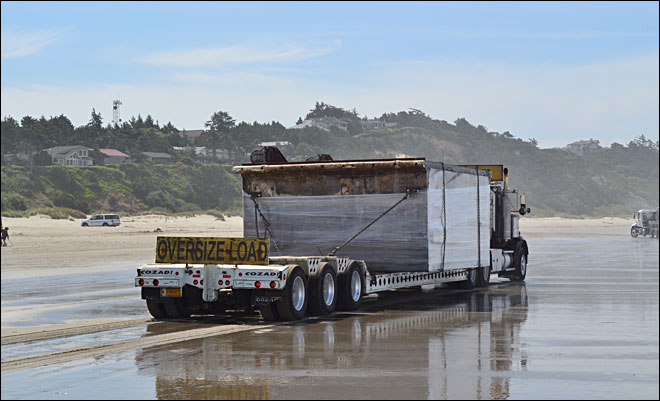 Final piece of tsunami dock removed from Oregon beach