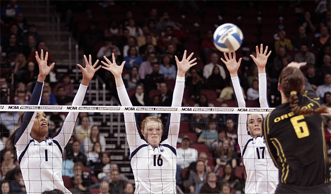 APTOPIX NCAA Oregon Penn State Volleyball
