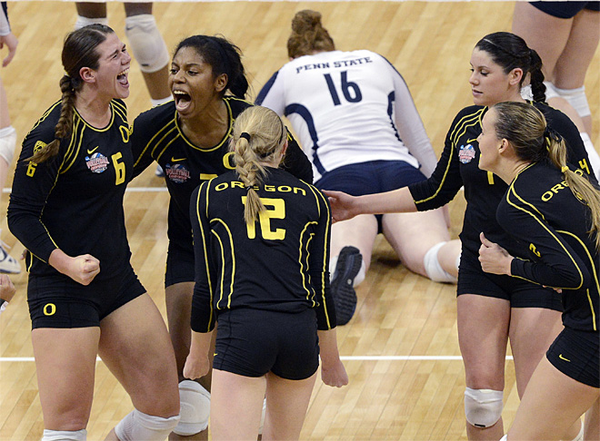 NCAA Oregon Penn State Volleyball