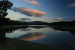 Sunset over Wickiup Reservoir