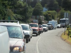 Traffic at the Siuslaw Bridge