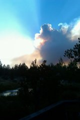 Picture of the Rooser Rock Fire.