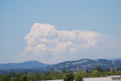 Air Tankers Fight MT Adams Fire