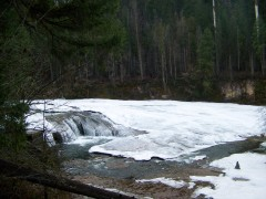 Frozen South Umpqua Falls.
