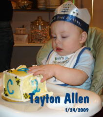 Tayton Allen's first Birthday party