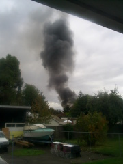 West Eugene Fire Early This Afternoon