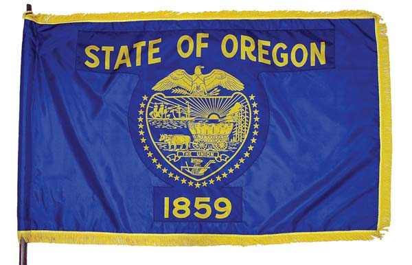 State of Oregon flag (front)