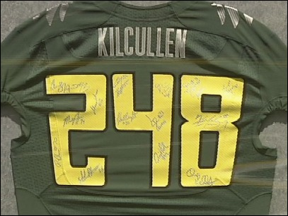 Video: Ducks honor Chris Kilcullen
