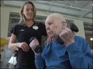 103-year-old working out to stay healthy
