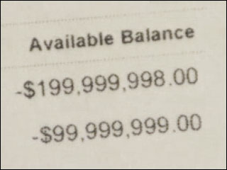Bank error shows woman $3,000,000 in debt