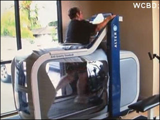 Anti-gravity treadmill gets injured people moving