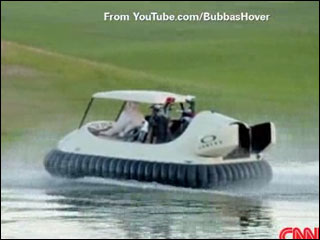 Golf cart hover craft hits the green