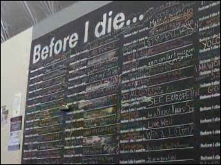 Chalkboard allows public to display bucket list