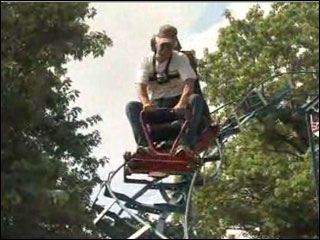 Man builds roller coasters in yard
