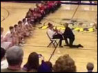 High school coach organizes elaborate flash mob proposal