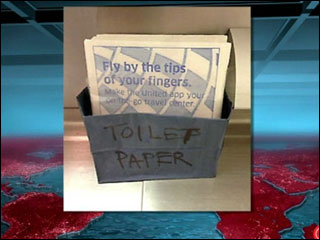 Flight runs out of TP, offers napkins