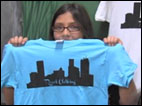 Business owner uses t-shirts to stop bullying