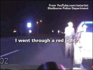 Man sees red after red light ticket