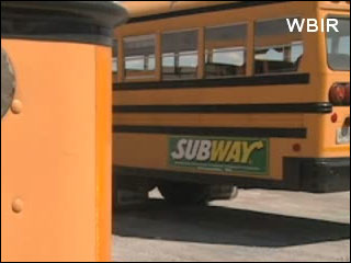 School buses become rolling billboards