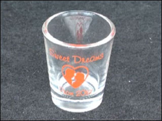 Shot glasses given as prom gifts