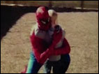 Spiderman soldier surprises son