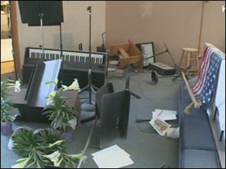 Despite vandalism at church, Easter services go on