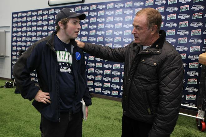 Spencer's Make-A-Wish with the Seahawks
