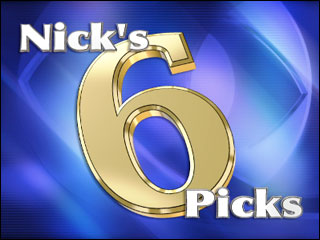 Nick's Six Picks - Sept. 27th, 2009