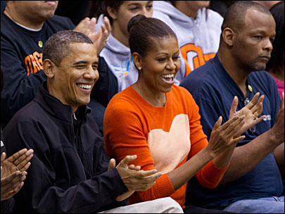 President Obama attends OSU basketball game; Beavers win