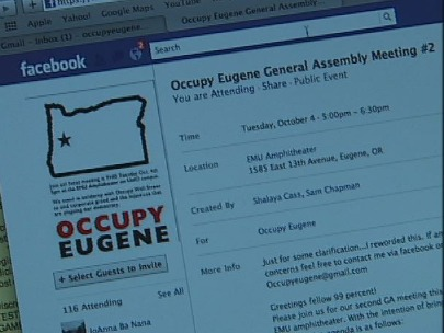 'Occupy Wall Street' movement gains support in Eugene