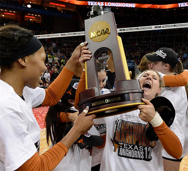 CORRECTION NCAA Championship Oregon Texas Volleyball