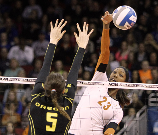 NCAA Champonship Oregon Texas Volleyball