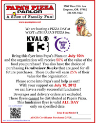 Papas Pizza Relay for Life Fundraiser