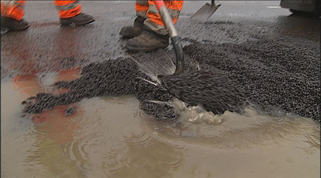 'Sometimes it's hard to tell how deep a pothole is'